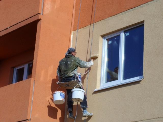 Покраска по штукатурке фасада